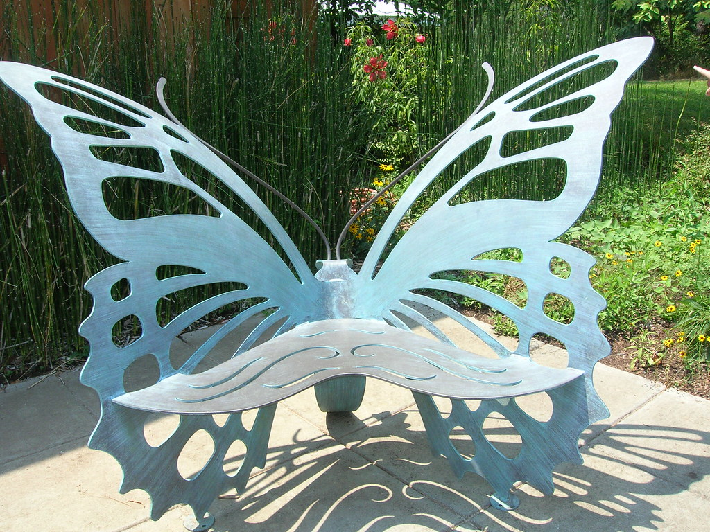 Butterfly metal chair - Butterfly Bench By Ladyjenga Butterfly Bench By Ladyjenga