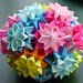 "Flower Kusudama ""Bouquet of Primula"""