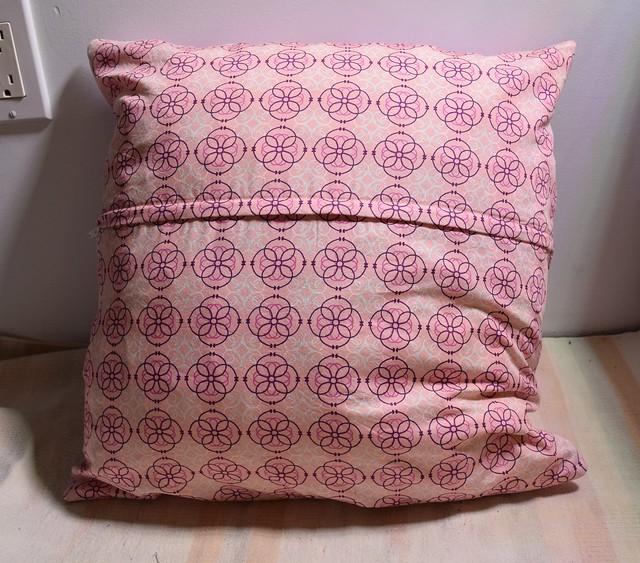 pink bike pillow back