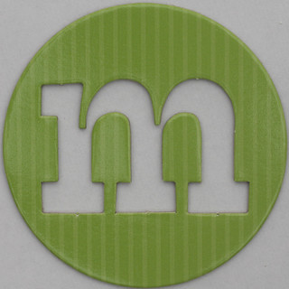 coloured card disc letter m | by Leo Reynolds