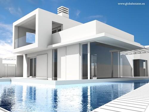 Villa san gin s piscina chalet de lujo en la azoh a bah for Progetti di casa moderna
