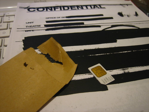 Mysterious document and sim card | by adactio