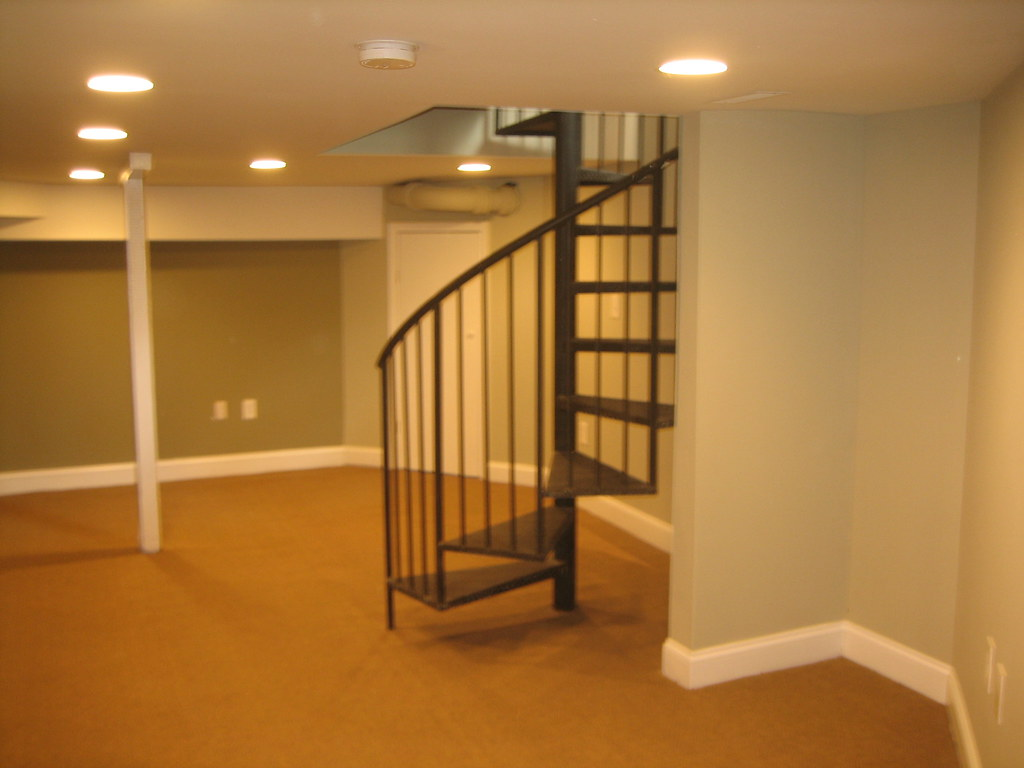 Spiral Stairs To Finished Basement Rev Dave Bowman Flickr