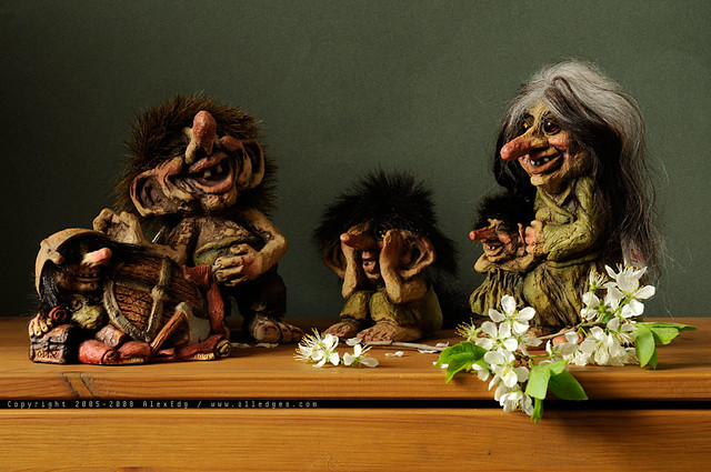 My small collection of Norwegian trolls. The Original Trol… | Flickr