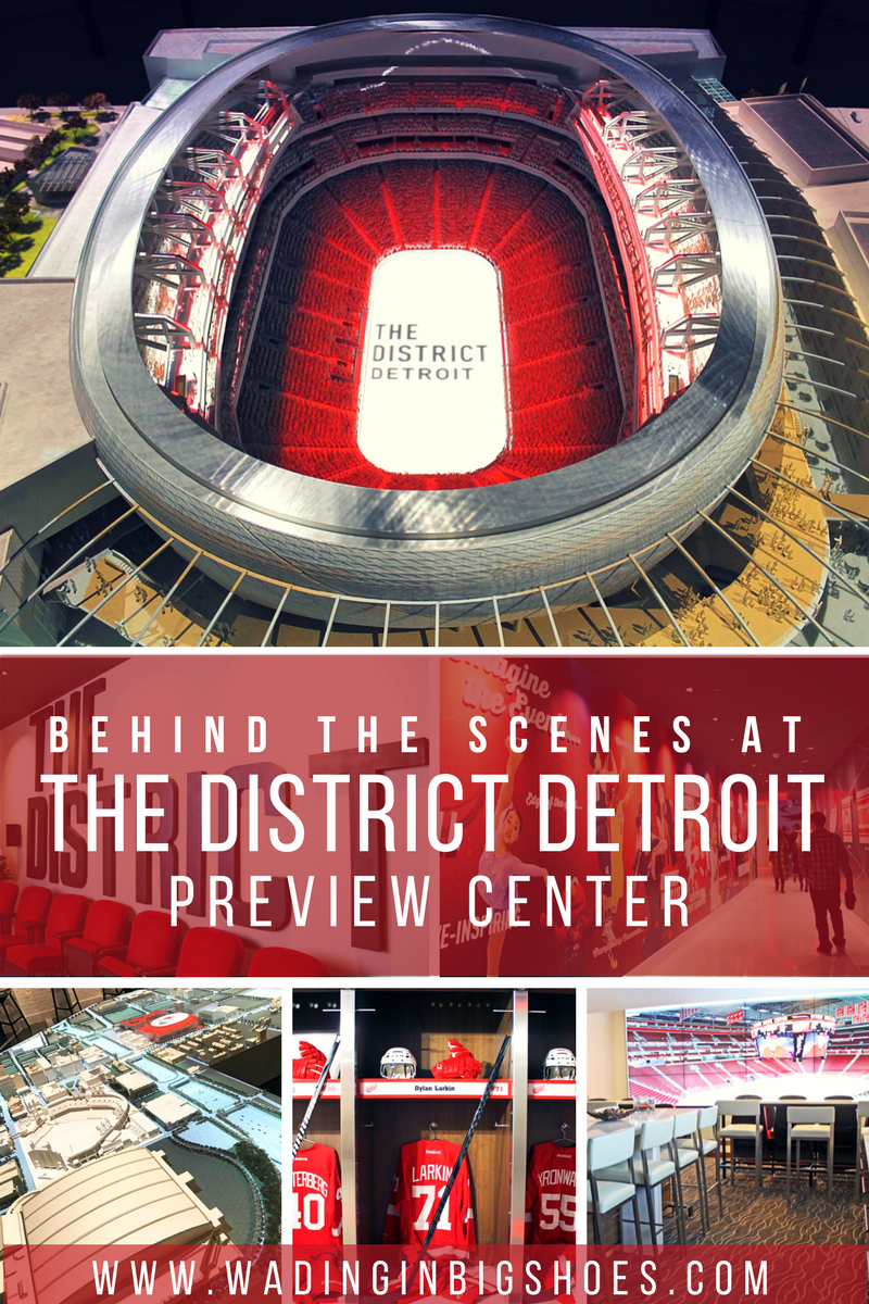 Behind The Scenes At The District Detroit Preview Center /// The District Detroit is a 50-block entertainment venue connecting Downtown Detroit with Midtown Detroit. Coming in 2017, Little Caesars Arena will host the Detroit Red Wings and Detroit Pistons while also serving as a multipurpose venue for concerts, shopping, dining, and more. Check it out and learn more about this destination with a behind the scenes look from The District Detroit Preview Center! /// (via Wading in Big Shoes)