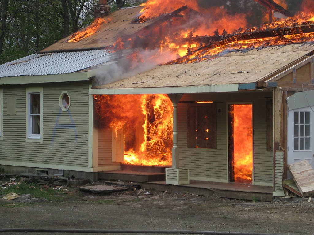 house on fire this was a controlled burn a training exerci flickr  house on fire by dvs