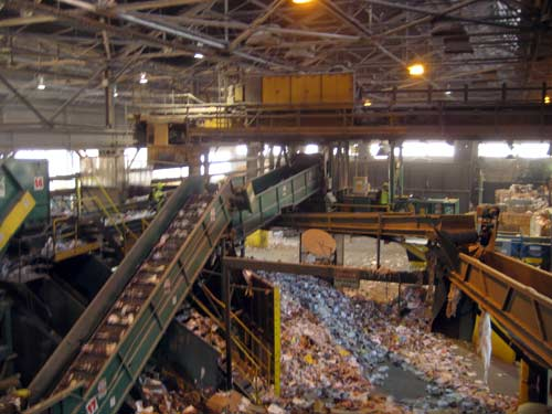 Inside The Allied Waste Recycling Center At 3rd And Lander