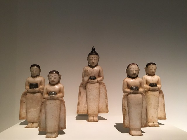 Shan state. 18th century. Buddha and his disciples. Cities & Kings - Myanmar, Asian Civilisations Museum, Empress Place, Singapore