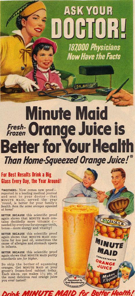 Minute Maid Orange Juice Magazine Ad | Ask your doctor ...