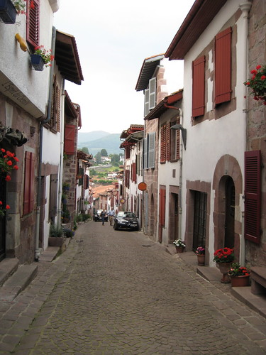 St jean pied de port a view down the road in st jean - How to get to saint jean pied de port ...