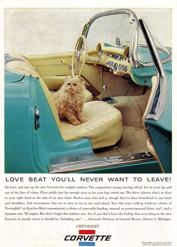 Vintage Ad #452: The Cat and the Corvette | by jbcurio