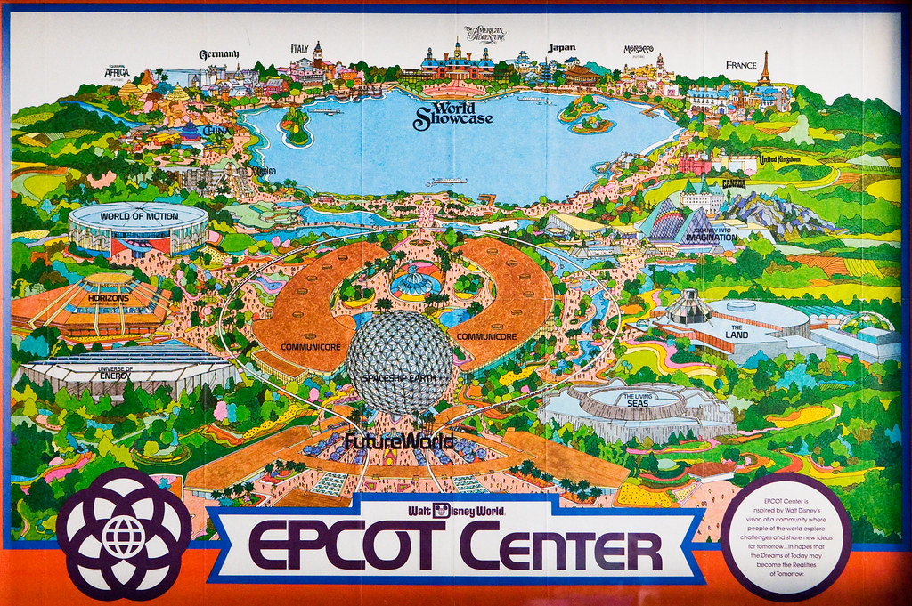 1982 EPCOT Center Fold out Map | Picture taken on Oct 1, 200 ...