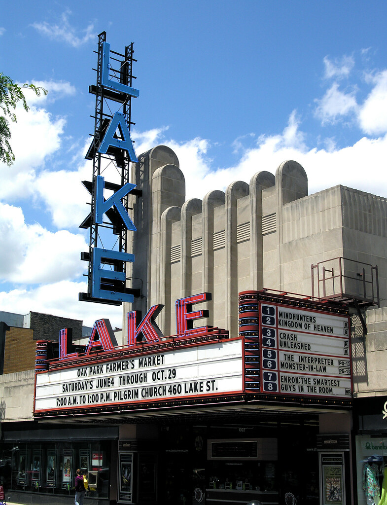 lake theater marquee oak park illinois michael zale flickr. Black Bedroom Furniture Sets. Home Design Ideas