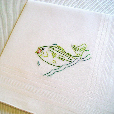 Father's Day Bass Handkerchief | by colonial stitcher