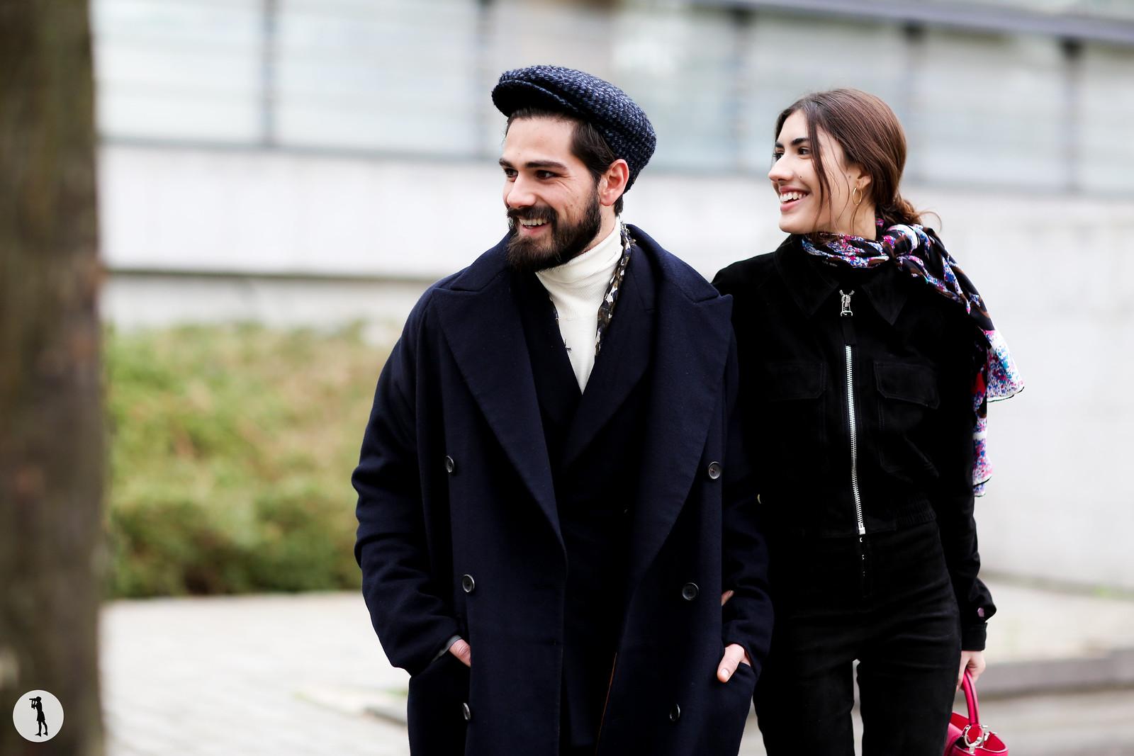 Giotto Calendoli and Patricia Manfield - Paris fashion week Menswear FW15-16 (3)