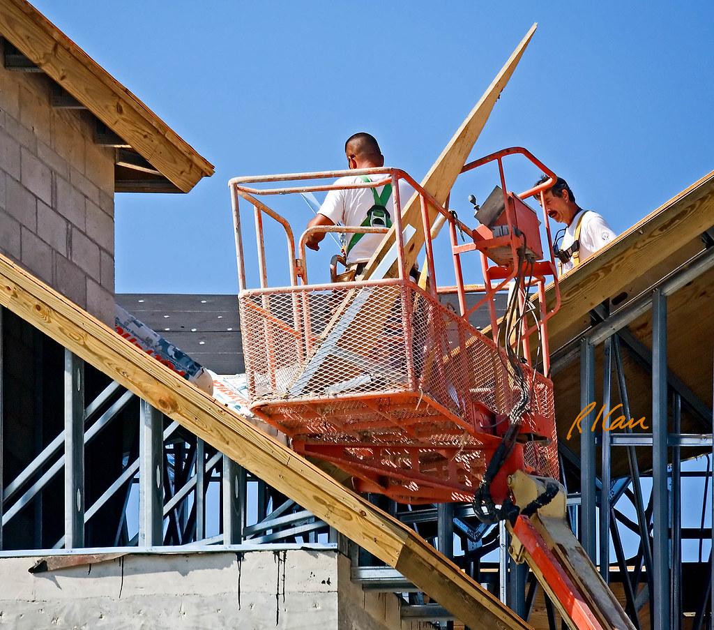 Aerial Lift Roof Construction Aerial Man Lift Jlg 60h