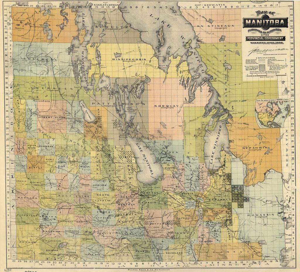 Map Of Manitoba Bulman Bros Co Map Of Manitoba Flickr - Map of manitoba