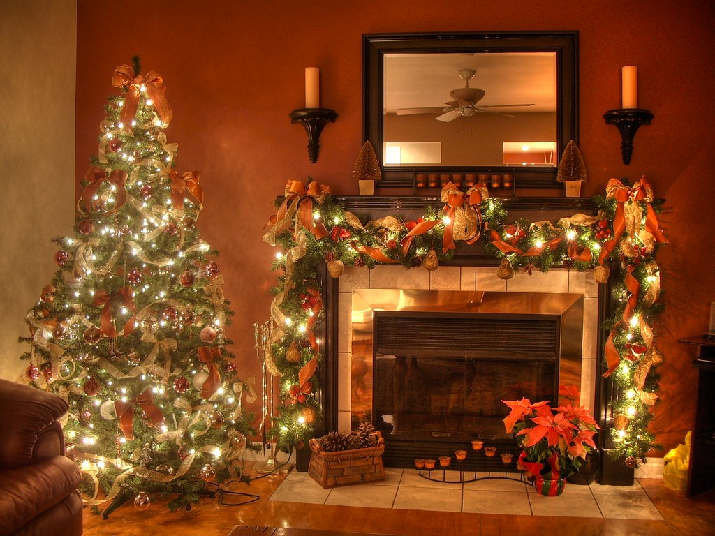 Christmas Fireplace Part - 43: ... Christmas Fireplace (HDR) | By _christian M
