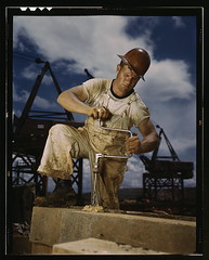 Carpenter at work on Douglas Dam, Tennessee (TVA)  (LOC) | by The Library of Congress