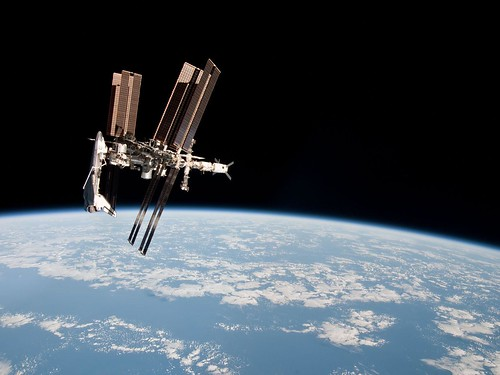 The International Space Station and the Docked Space Shuttle Endeavour | by europeanspaceagency