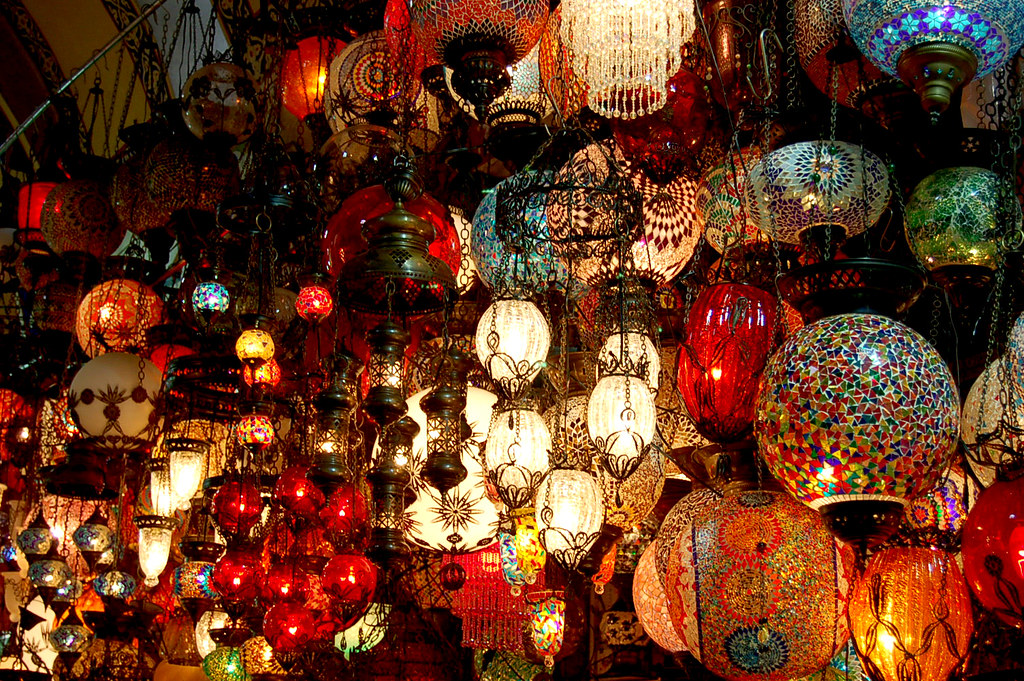 Turkish Style Hanging Lamps At The Kapalı 231 Arşı Quot Covered