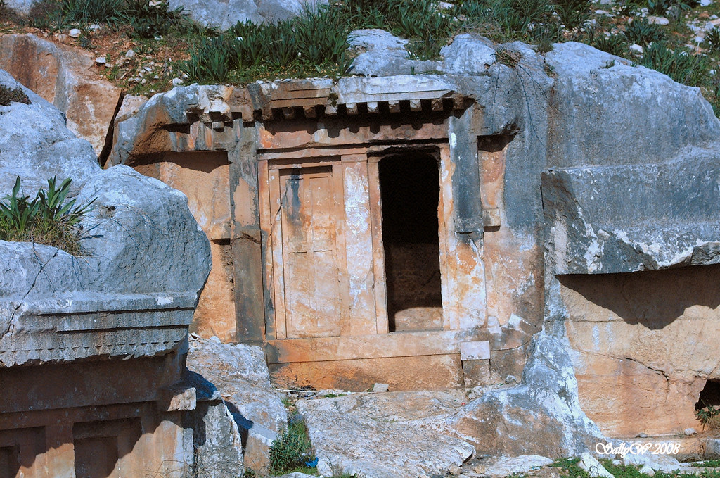 Rock tomb at Limyra 367  Limyra necropolis.  Sally Scott ...