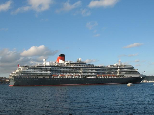 Queen Victoria Cruise Ship In Sydney Harbour  Australian