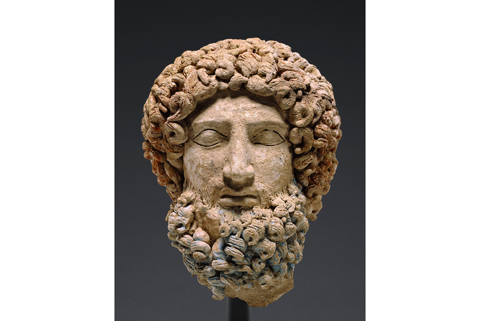 Head Of Hades About 400 300 B C Terracotta And Polychromy Flickr
