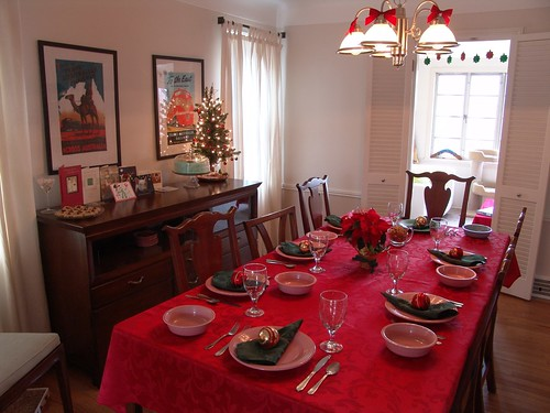Christmas Dinner Table Setting 1228