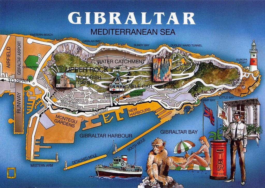 Gibraltar Map Card | Marien (Buvilla) desde Algeciras, Càdiz… | Flickr