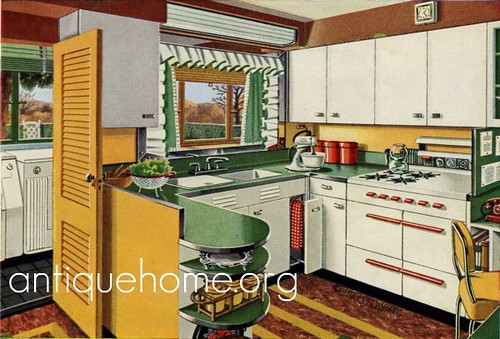 1950 Kitchen 1950s Kitchen Design With Green Yellow And Flickr
