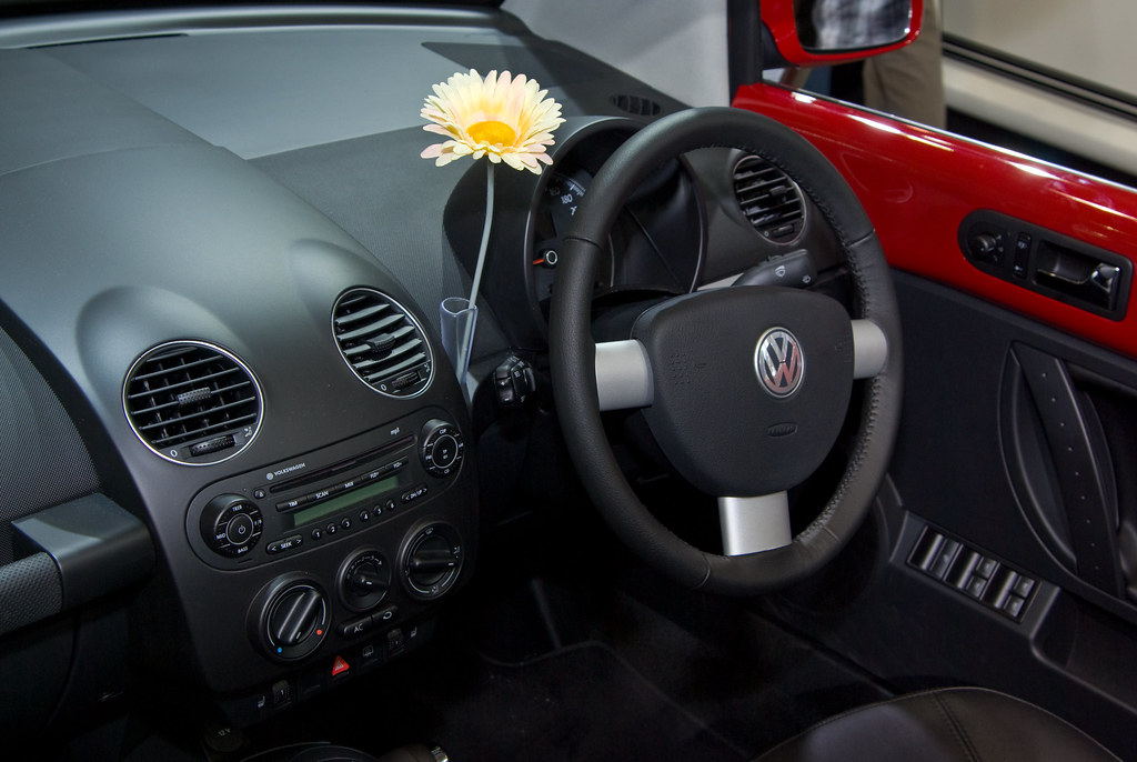 A New Beetle - Dashboard a complete with Fake Flower   Flickr