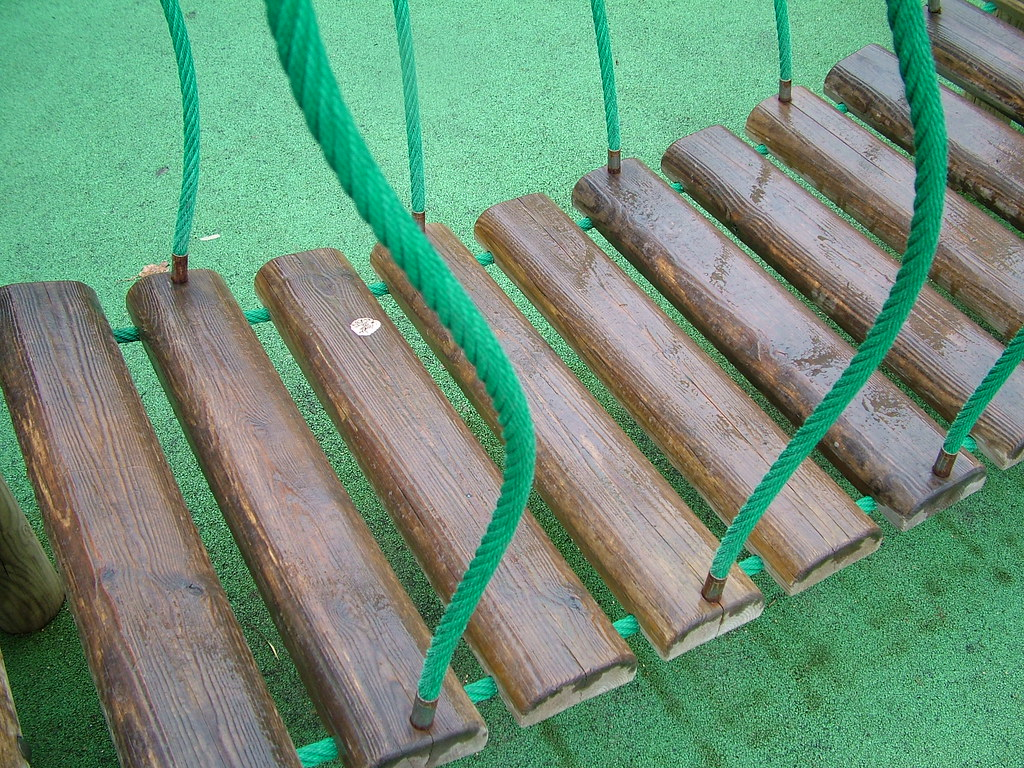 Backyard Rope Bridge kids rope bridge | the style pa | flickr
