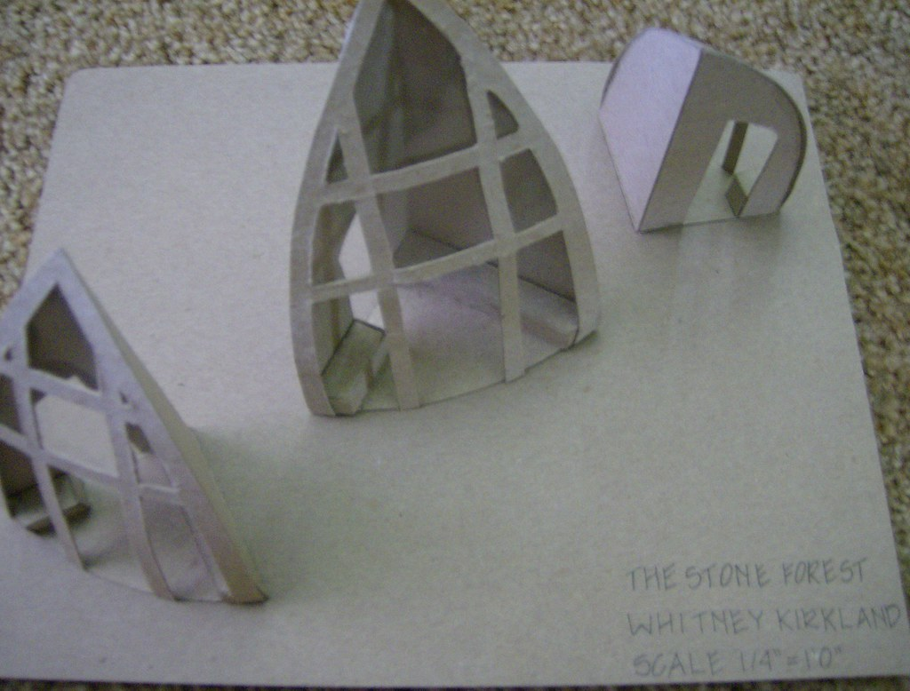 Kiosk Design Study Model | This is a model of my kiosk desig