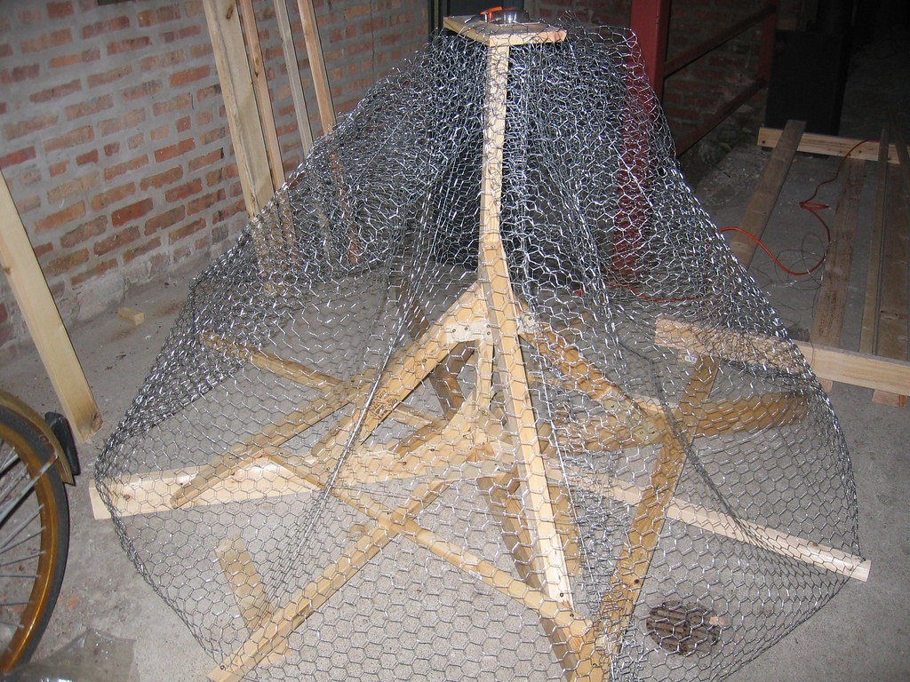 Chicken Wire And S Hook Hangers For Kitchen Gadgets