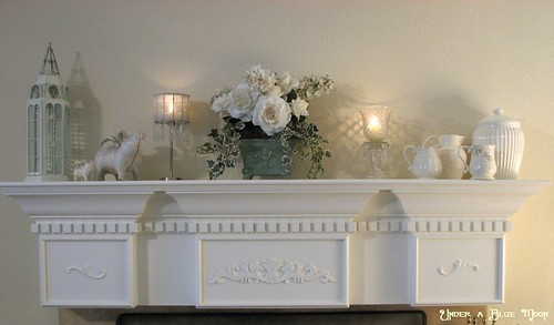 White mantel | by Under a Blue Moon