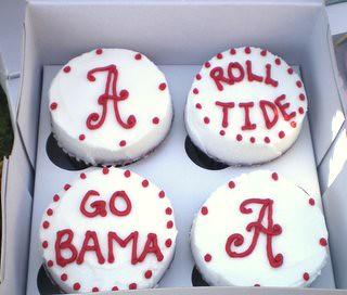 Roll Tide cupcakes Shannan Flickr
