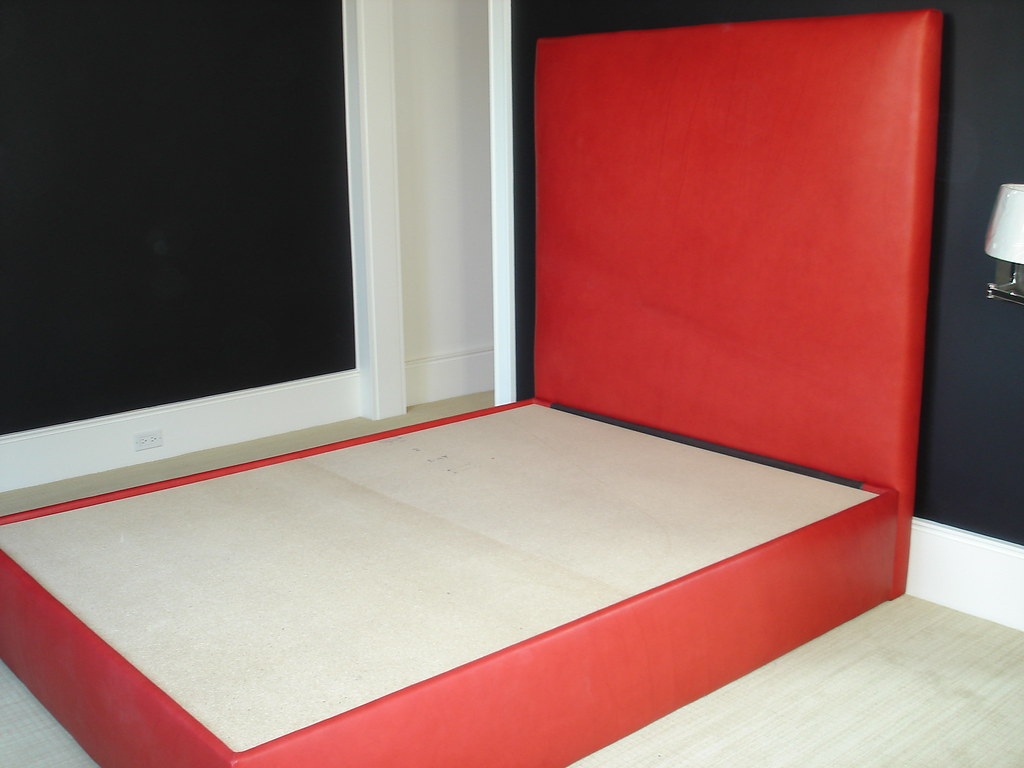 Red Leather Upholstered Bed Michael S Upholstery Flickr