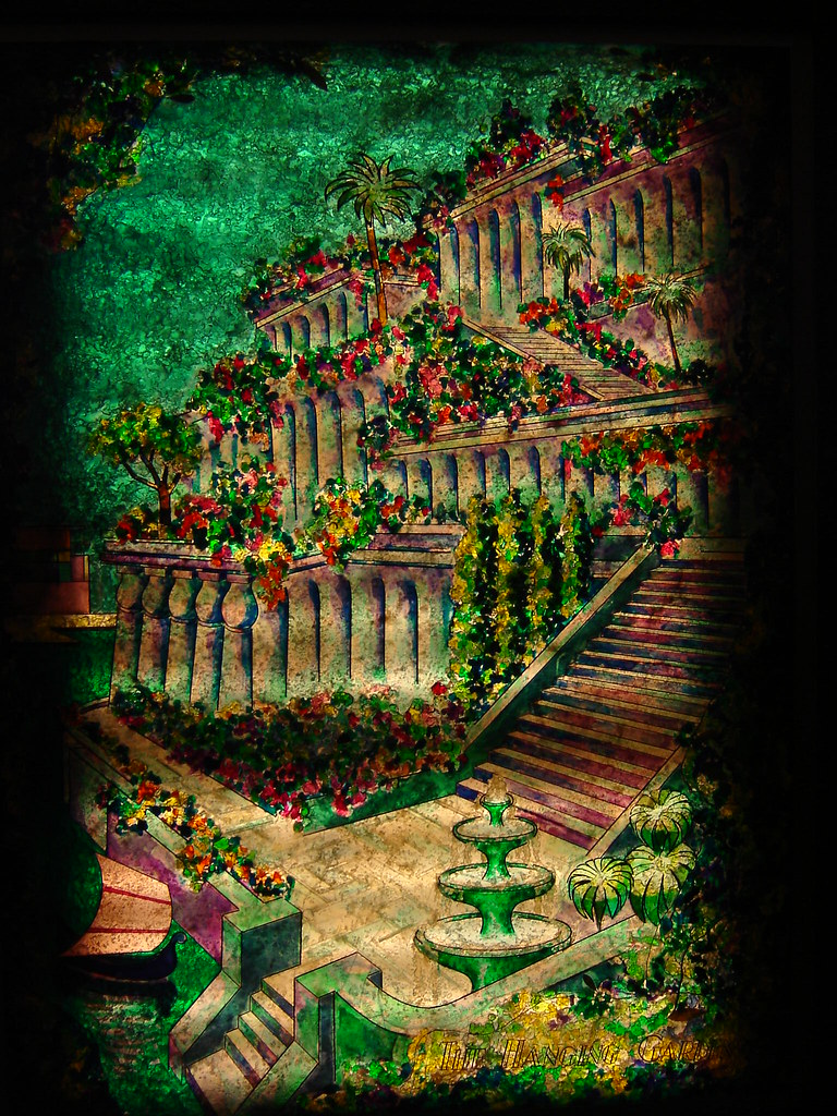 Colorful Hanging Gardens Of Babylon Component - Beautiful Garden ...