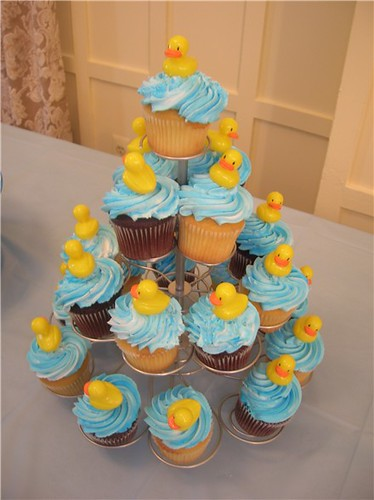 Rubber Duckie Cupcakes | Duckie cupcake tower | Heather ...