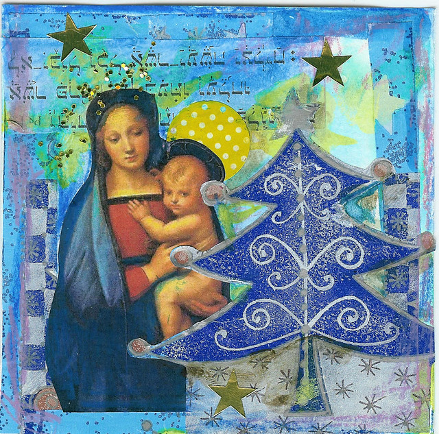 Daily Art Card 2008: You are a star baby, collage by iHanna