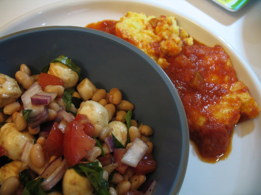 polenta and antipasti salad | easy polenta with tomato sauce ...