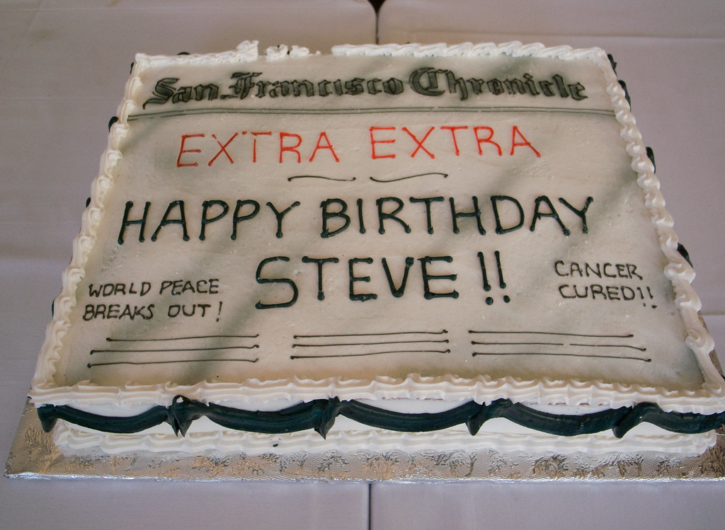 Happy Birthdy Steve Cake