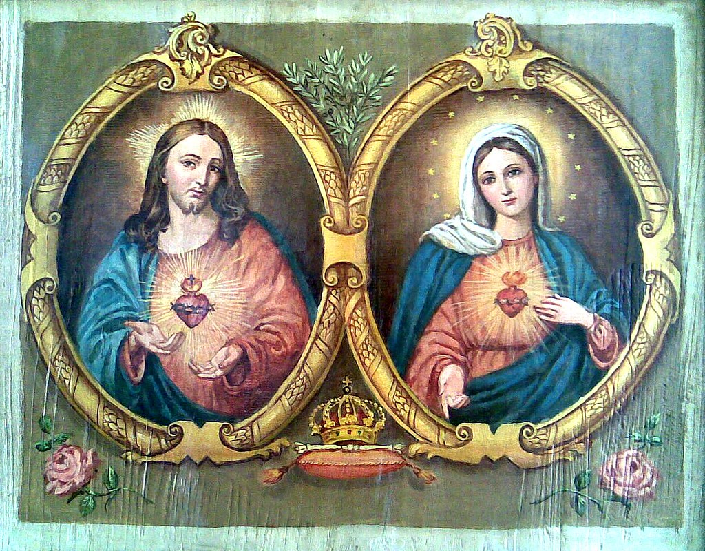 Sacred Heart of Jesus / Immaculate Heart of Mary   Vintage ...