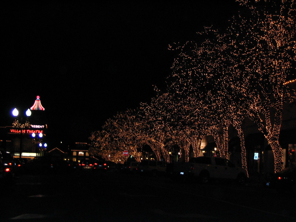 Highland Park Village Christmas Lights