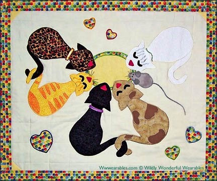 Milk Time Kitty Cats Amp Mouse Wall Hanging Pattern Flickr