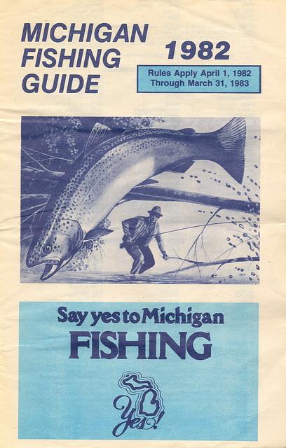 1982 michigan vintage fishing license law digest guide for Michigan fishing license online