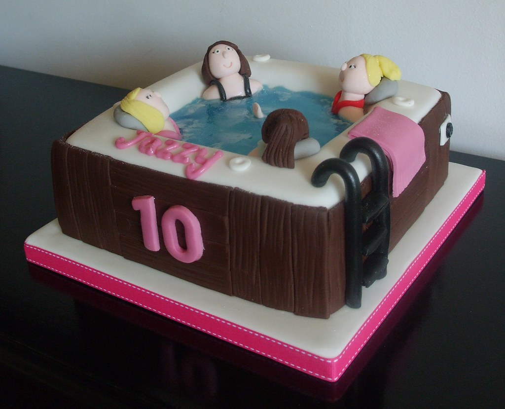 Birthday Cake Ideas Photos Hot : Hot Tub birthday cake Debbie Scott Flickr