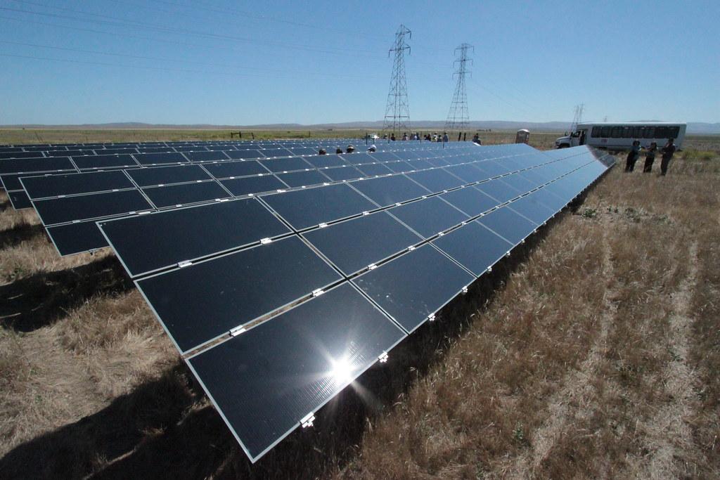 First Solar Panel Arrays Russ Ferriday Flickr
