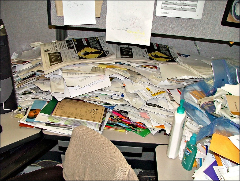 Image result for messy workplace